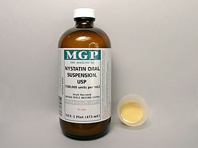 Nystatin effect in the vagina