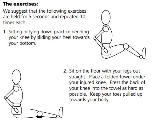 knee range of motion exercises pdf