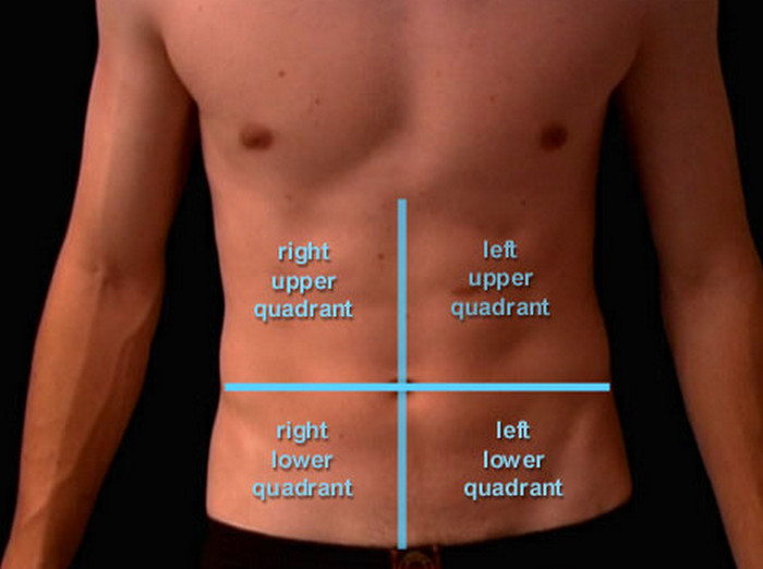 Sharp pain in upper abdomen right side