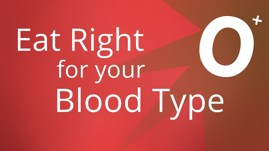 Diet plans for blood type o positive